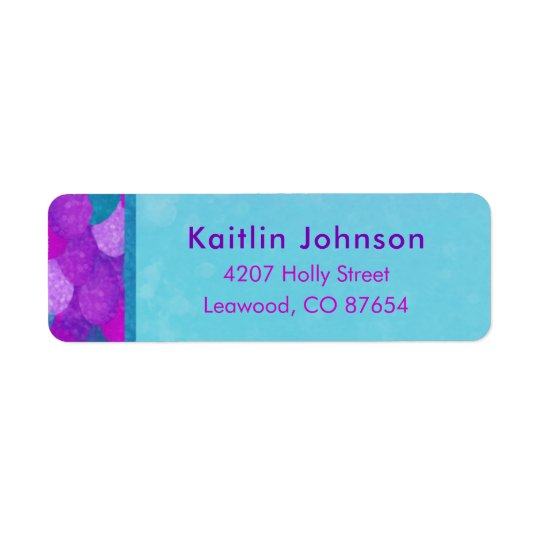 Mermaid Party Return Address Labels