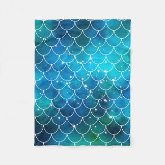 Mermaid Pattern Fleece Blanket