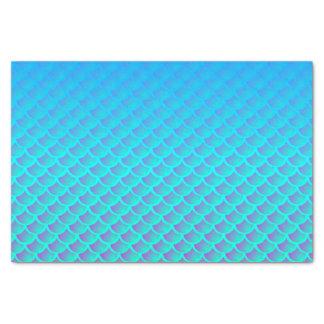 Mermaid Pattern In Aqua Blue and Purple Tissue Paper