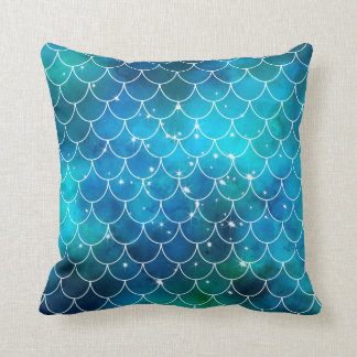 Mermaid Pattern Throw Pillow