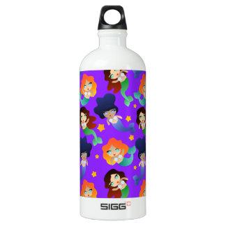 Mermaid Pattern Water Bottle