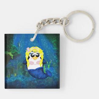 Mermaid Penguin Key Ring