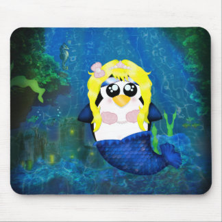 Mermaid Penguin Mouse Pad