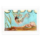 Mermaid Performs Postcard