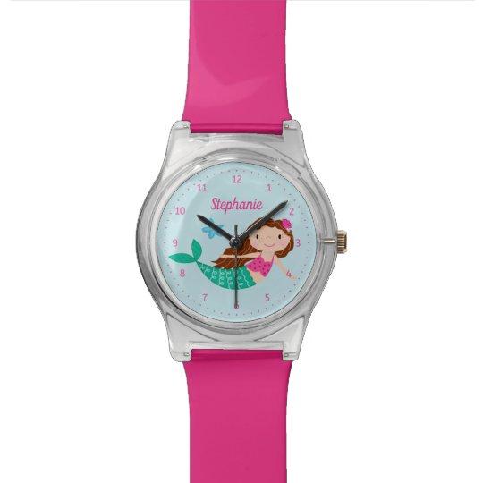 Mermaid Personalised Pink Watch