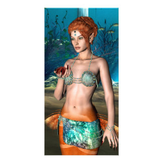 Mermaid Personalized Photo Card