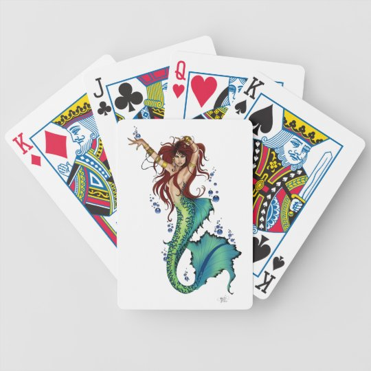 Mermaid Pin-up Bicycle Playing Cards