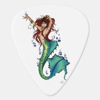 Mermaid Pin-Up Guitar Pick