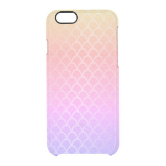 Mermaid Pink Lilac Gold Yellow Ombre Waves iPhone Clear iPhone 6/6S Case