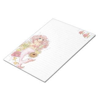 Mermaid (pink) notepad
