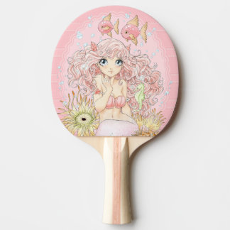 Mermaid (pink) ping pong paddle