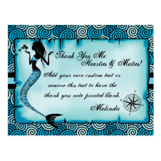 Mermaid, Pirate Thank You Cards