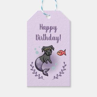 Mermaid Pit Bull 2 Birthday Gift Tags