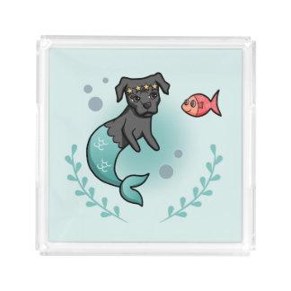Mermaid Pit Bull Acrylic Tray