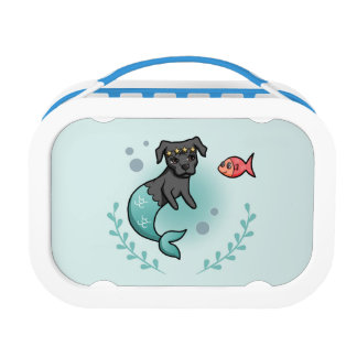 Mermaid Pit Bull Lunch Box