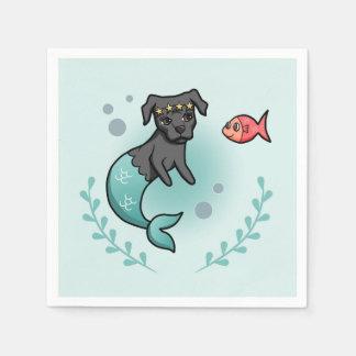 Mermaid Pit Bull Paper Napkins
