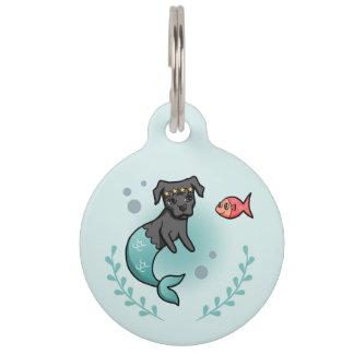 Mermaid Pit Bull Pet ID Tag