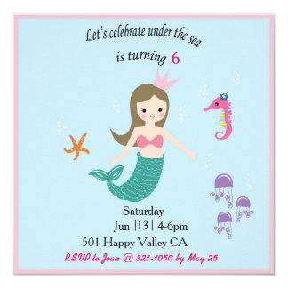 Mermaid Pool Party Card
