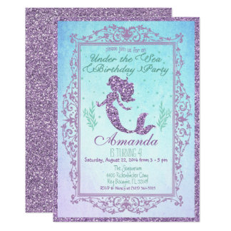 Mermaid Pool Party Under the Sea Birthday Card