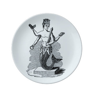 Mermaid Porcelain Plate King