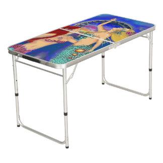 Mermaid Portal Digital Sunset Beer Pong Table