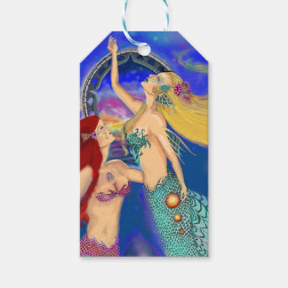 Mermaid Portal Digital Sunset Gift Tags