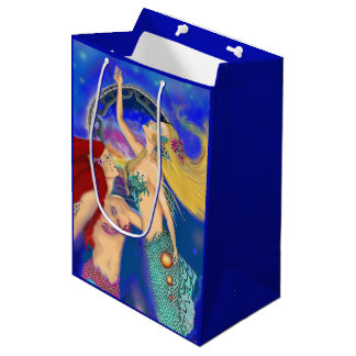 Mermaid Portal Digital Sunset Medium Gift Bag