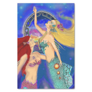 Mermaid Portal Digital Sunset Tissue Paper