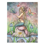 Mermaid Postcard, Creekside Magic