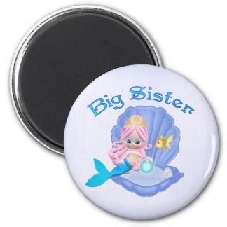 Mermaid Princess Big Sister 6 Cm Round Magnet