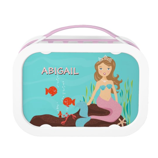 Mermaid Princess & Friends Personalised Lunch Box