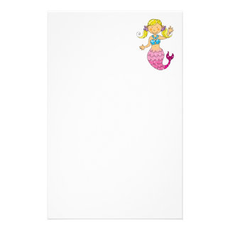 mermaid princess stationery