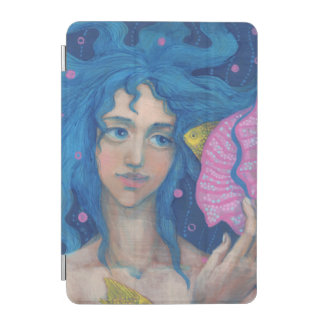 Mermaid Princess, Underwater Fantasy, Pink Blue iPad Mini Cover