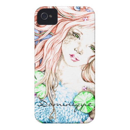 Mermaid Princess Watercolor Blackberry Cases