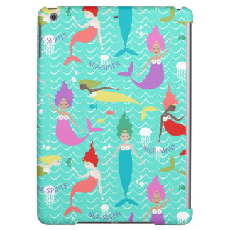 Mermaid Printed Ipod Air case in Teal/Multi