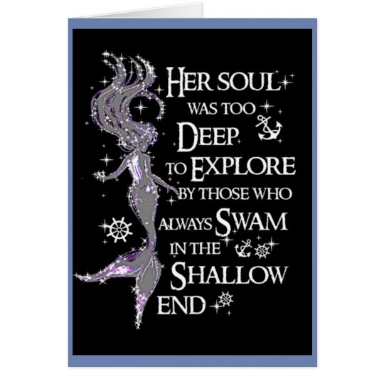 Mermaid Quote All Occasion Greeting Card