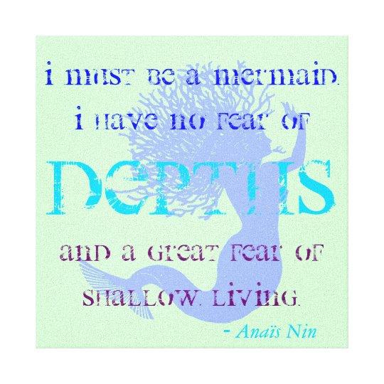 Mermaid Quote Canvas Print