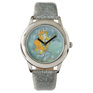 Mermaid Rainbow and Dolphin Illustration Design Watch