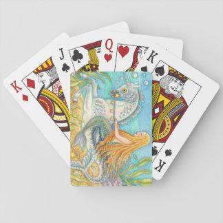 Mermaid Riding Merhorse Unicorn DECK OF CARDS