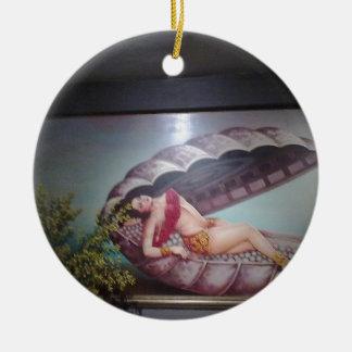 Mermaid Round Ceramic Decoration