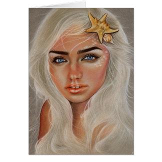 Mermaid Sails starfish portrait card