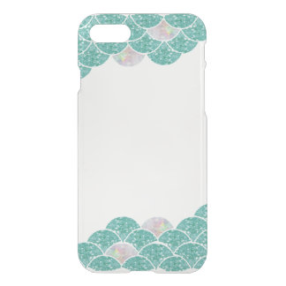 Mermaid scale transparent iPhone case