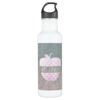 Mermaid Scales Apple Ocean Teacher 710 Ml Water Bottle
