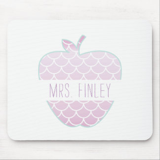 Mermaid Scales Apple Personalized Teacher Mouse Mat