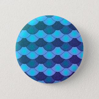 Mermaid Scales - Blue Glow 6 Cm Round Badge