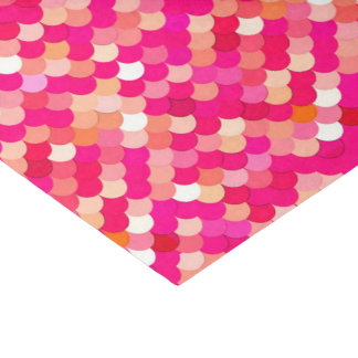 Mermaid Scales, Coral, Fuchsia Pink, and Peach Tissue Paper