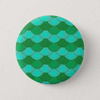 Mermaid Scales - Green 6 Cm Round Badge