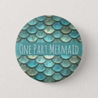 Mermaid Scales in Teal and Silver 6 Cm Round Badge