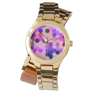 Mermaid Scales Lavender and Bittersweet Octagon Watches