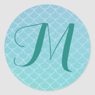 Mermaid Scales Monogram Sticker